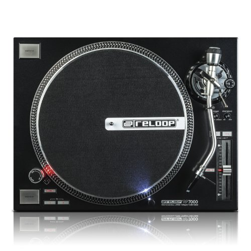 Review Reloop RP-7000 Quartz Driven DJ Turntable with Upper-Torque Direct Drive, Black