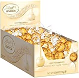 <p>A delicate white chocolate shell enrobes an irresistibly smooth white chocolate center. Each display box contains 60 individually wrapped Lindor truffles. Discover the LINDOR truffle. Smooth, melting, luscious. When you break its shell, LINDOR starts to melt and so will you.</p>