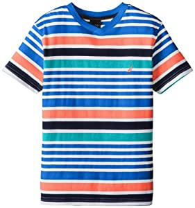 Nautica Boys 8-20 Stripe Short Sleeve Tee from Nautica