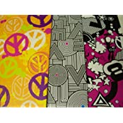 Staples Two Pocket Poly Folder ~ Set Of 3 (Peace, Love, Peace Party)
