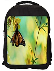 """Snoogg Chetah Butterfly Casual Laptop Backpak Fits All 15 - 15.6"""" Inch Laptops"""