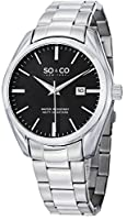 SO&CO New York Men's 5101.2 Madison Analog Display Quartz Silver Watch by SO&CO MFG