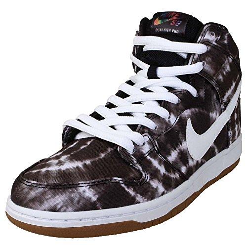 Nike Men'S Dunk High Premium Sb, Black/White-White, 11 M Us