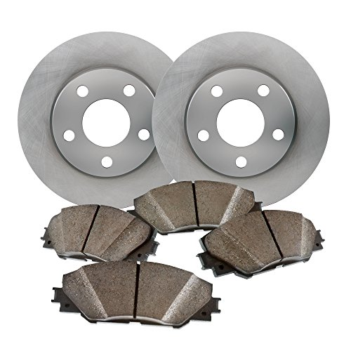 Front Low Dust Ceramic Pads and Premium Quiet Tecnology Brake Rotors - for 2008 Mazda 3 3i 2.0LEngine (2005 Mazda 3i compare prices)