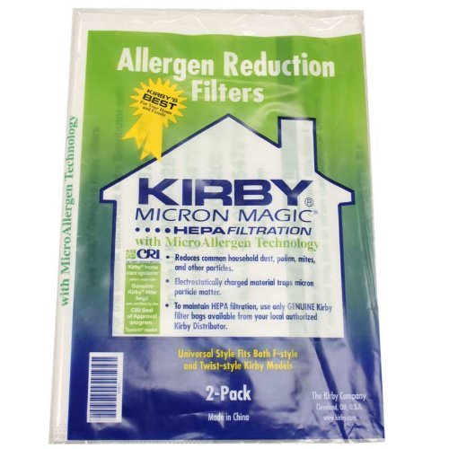 Kirby Style F Allergen Reduction Bags 2 per pack 205808 (Kirby Vacuum Bags Style 2 compare prices)