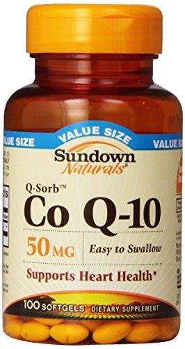 Sundown Naturals Q-Sorb Co Q-10, 50 mg, Value Size, 100 Softgels (Co Q10 Sundown compare prices)