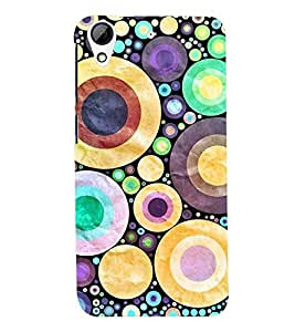 D KAUR Circle Print Back Case Cover for HTC 626::HTC 626