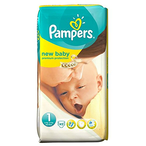 Pampers New Baby Size 1 Newborn 2-5Kg (45)