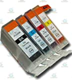 4 Chipped Compatible Canon PGI-5 & CLI-8 Ink Cartridges for Canon Pixma iP5200 Printer