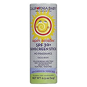 California Baby Super Sensitive Broad Spectrum SPF 30+ Sunscreen Stick
