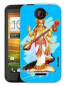 "Humor Gang Saraswati Maa - Hindu God Printed Designer Mobile Back Cover For ""HTC ONE X"" (3D, Matte, Premium Quality Snap On Case)"