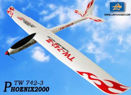 2.4GHz 6-Ch Radio Remote Control Phoenix2000 EPO 2m Air Glider Rc Airplane Ready to Fly