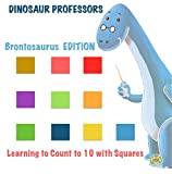 Dinosaur Professors: Brontosaurus Edition: Learning to Count to Ten with Squares (Early Learning Books, Preschool Books, Home Schooling Books, Parent Participation, ... Learning to Count with Shapes Book 2)