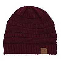 Thick Slouchy Knit Unisex Beanie Cap…