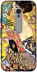 The Racoon Grip printed designer hard back mobile phone case cover for Motorola Moto G 3rd Gen. (Lady with)