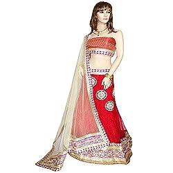 Anjan Embroidered Women's Lehenga, Choli and Dupatta Set