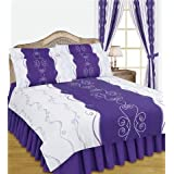 King Duvet Cover With Valance Sheet And 2 Pillowcases Lilacby Matching Bedroom Sets