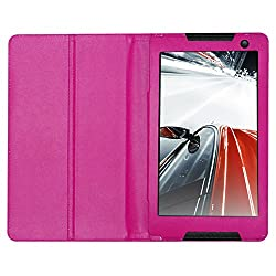 Acm Executive Leather Flip Case For Lenovo Tab S8 Tablet Tablet Front & Back Flap Cover Stand Holder Pink