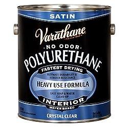 Rust-Oleum VARATHANE Water-Based Polyurethane for Interior Furniture & Wood Polish, 3.78 Liters, SATIN Finish