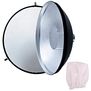 Neewer Beauty Dish with Honeycomb Grid AD-S3 for Godox Witstro AD180 or AD360 Speedlite