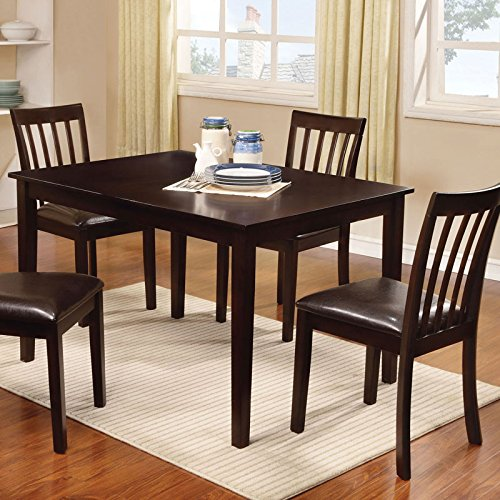 Wrangler Espresso Finish Transitional Style 5-Piece Dining Set