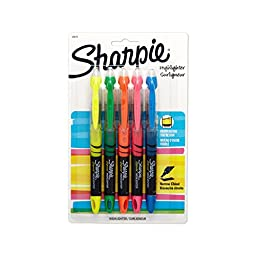 Sharpie Accent Liquid Pen-Style Highlighters, 5 Colored Highlighters(24575PP)