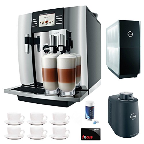 Jura Giga 5 13623 Cappuccino & Latte Macchiato System + $50 Focus Gift Card + Jura Cup Warmer Black Stainless Steel and Jura Cool Control Milk Cooler + Accessory Kit