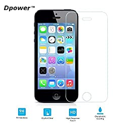 DpowerTM iPhone 5S 5 5C Front Premium Tempered Glass Screen Protector