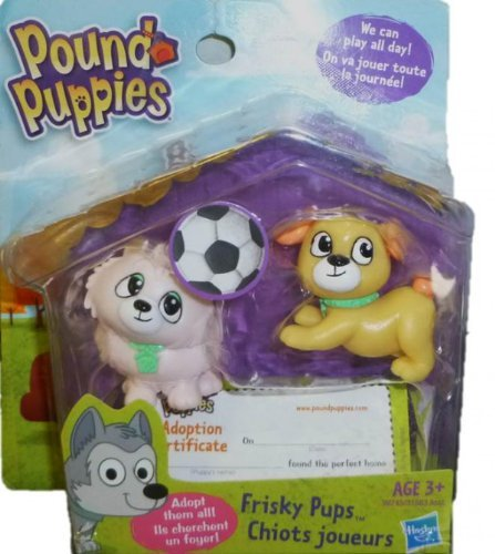 Pound Puppies, Mini Figure 2-Pack, Frisky Pups - 1