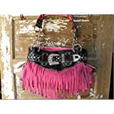 Western Rhinestone Buckle Fringe Handbags Purse Super Cute!!!