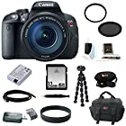 Canon EOS Rebel T5i with EF-S 18 135mm IS STM Lens and 32GB Deluxe Accessory Bundle