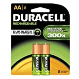 Duracell DC1500B2N005 Rechargeable NiMH Battery Pack, AA Size, 1.2V, 1700 mAh Capacity (Case of 24 Cards, 2 Unit per Card)
