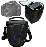 Navitech SLR Camera Bag Case Cover Fits Camera & Additional Lense For The Canon EOS 1200D / Canon EOS 70D / Canon PowerShot SX50 HS / Canon PowerShot SX510 HS