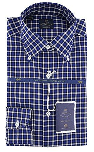 new-luigi-borrelli-blue-plaid-extra-slim-shirt