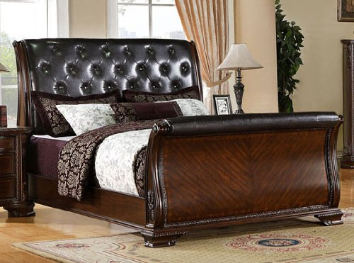where to purchase South Yorkshire Eastern King Tufted Sleigh Bed