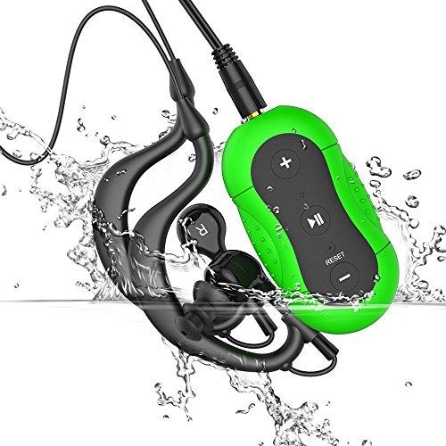 4-GB-Mp3-Impermeable-Aerb-Reproductor-de-MP3-Deportivo-Resistente-al-Agua-para-Natacin-y-Otros-Deportes-Color-VerdeIPX-8