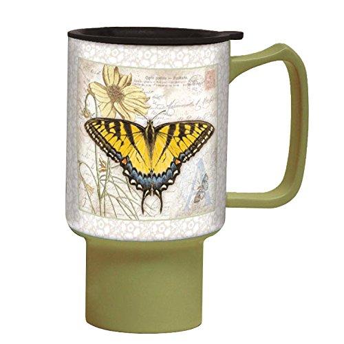 Lang Swallowtail Travel Mug By Jane Shasky, Multicolor