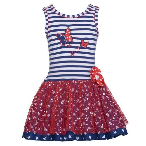 Bonnie Jean Baby Girls Butterfly 4th of July Tutu Dress, Navy, 18M