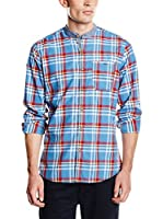 Springfield Camisa Hombre Check Mao Promo (Azul Claro / Rojo)