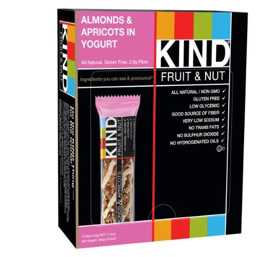 KIND Bars, Almonds & Apricot in Yogurt, Gluten Free, 1.4 Ounce Bars, 12 Count (Kind Bars Yogurt And Apricot compare prices)