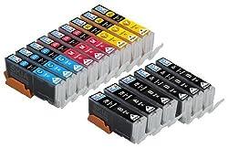 Skia Ink Cartridges ¨ 15 Pack Compatible with Canon 250 / 251(PGI-250BK CLI-251BK CLI-251C CLI-251M CLI-251Y) for PIXMA IP7220, PIXMA MG5420, PIXMA MG5422, PIXMA MG5520, PIXMA MG6320, PIXMA MG6420, PIXMA MG7120, PIXMA MX722, PIXMA MX922