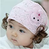 HOTER Baby Girl Dentelles Crochet Child Headband Fits Babies To Toddlers To Youth Girls With Wig Adornment