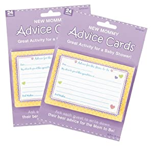 Baby Shower New Mommy Advice Cards (48)