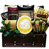 The Good Life Gourmet Food and Snack Chest Basket with Smoked Salmon