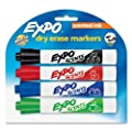 Expo Scents Chisel Tip Dry Erase Markers, 4 Colored Markers (83514)
