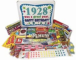 1928 88th Birthday Gift Basket Box Retro Nostalgic Candy From Childhood