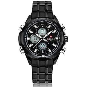 NAVIFORCE Luxury Brand Full Steel Clock Men