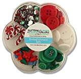 Buttons Galore Embellishment Set, Christmas