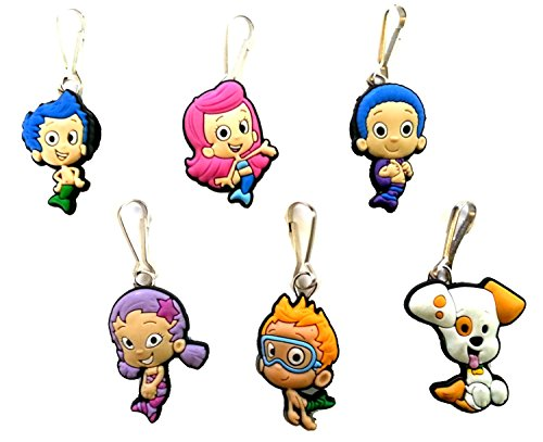 AVIRGO 6 pcs Zipper Pulls Charms for Jacket Bag Pendant Set # 19-2 - 1