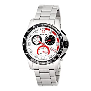 Wenger Men's 70797 Battalion Chrono Silver Dial Steel Bracelet Watch
